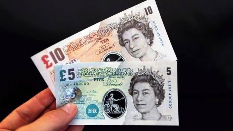Britisches Pfund Geldscheine