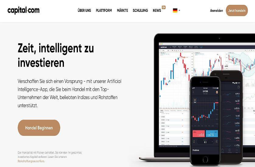 Konzept und Funktionen von Capital.com