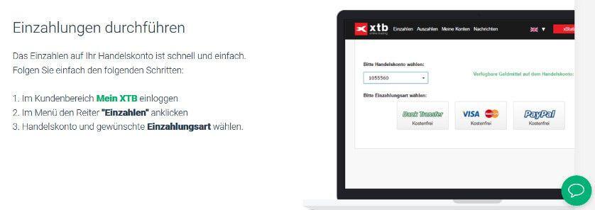 xtb einzahlen